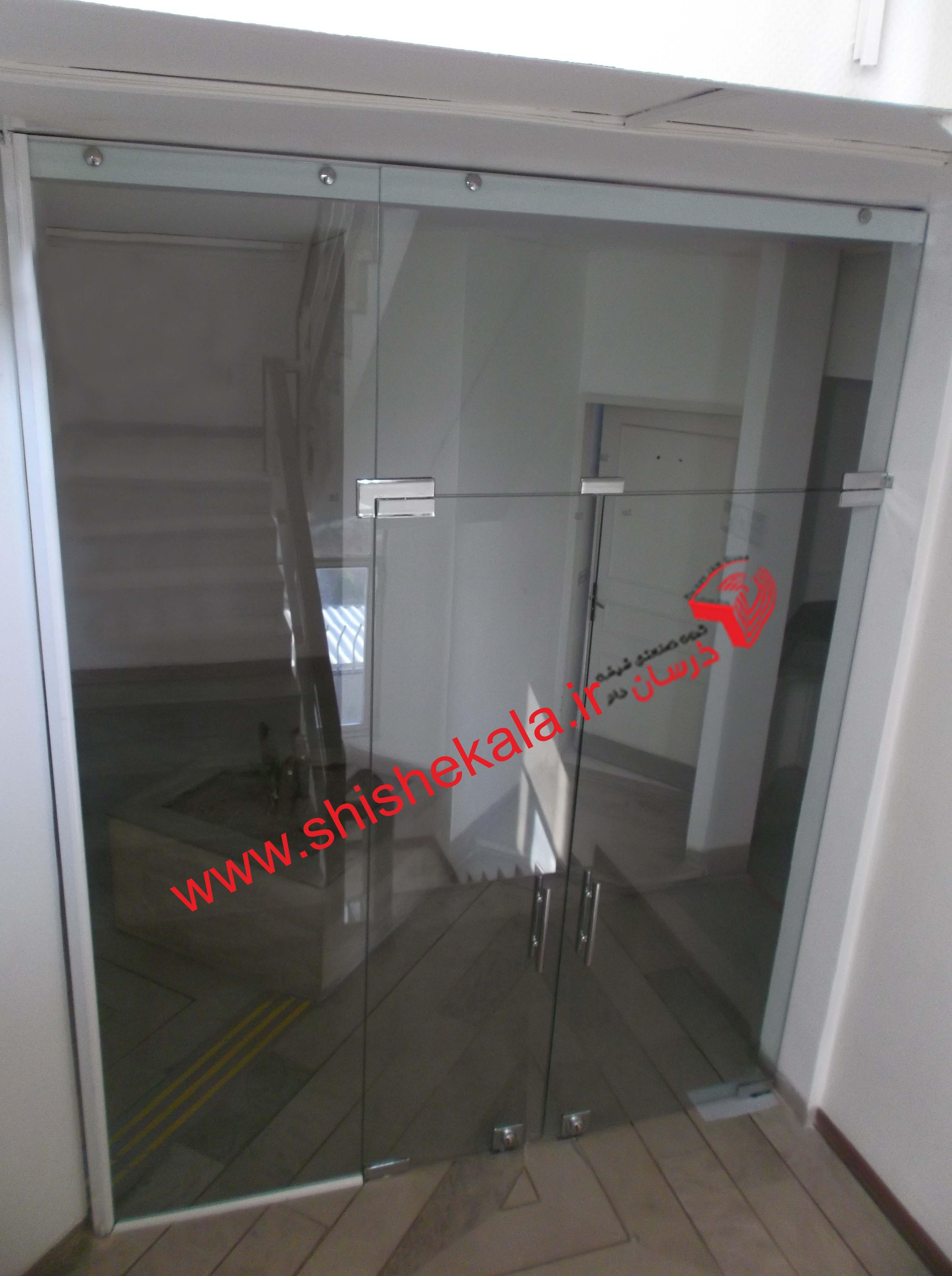 درب ضد حریق شیشه ای