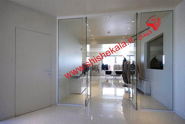 درب لولایی شیشه ای | درب شیشه ای لولایی | قیمت درب لولایی شیشه ای سکوریت