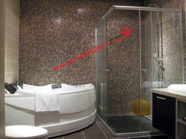 شیشه دوردوشی حمام | حمام شیشه ای | کابین دوش شیشه ای