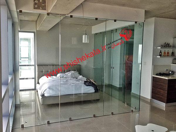 طراحی داخل منزل با پارتیشن شیشه ای
