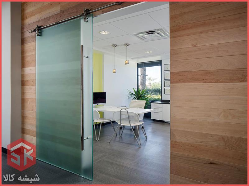 درب کشویی شیشه ای دستی | درب شیشه ای|درب کشویی