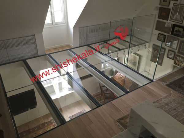 کف شیشه ای   اجرای کف شیشه ای   قیمت شیشه کف و سقف