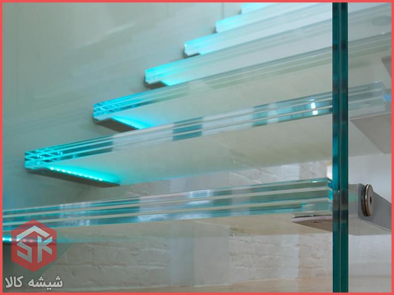 پله شیشه ای با شیشه لمینت