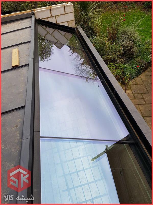 سقف شیشه ای گلخانه