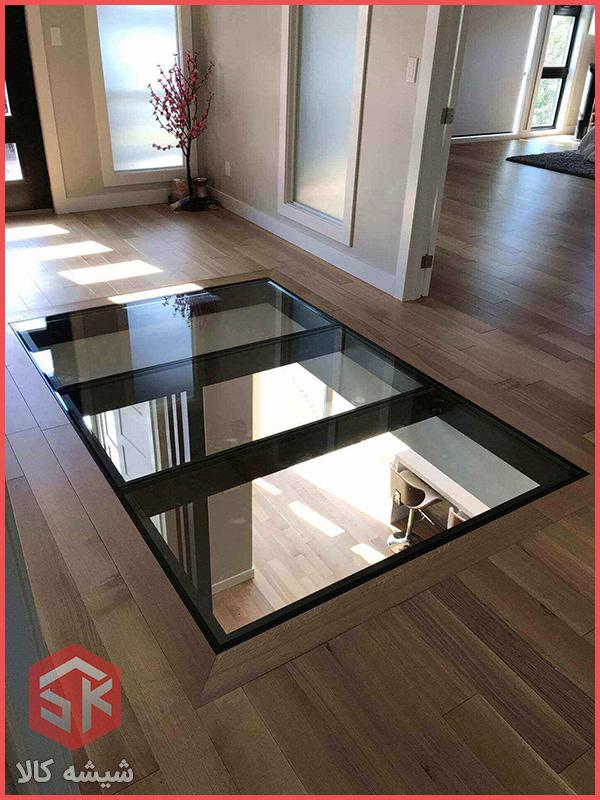 کف شیشه ای خانه