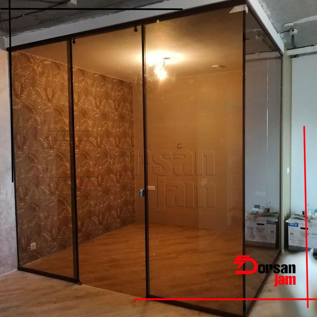 Bronze glass partition