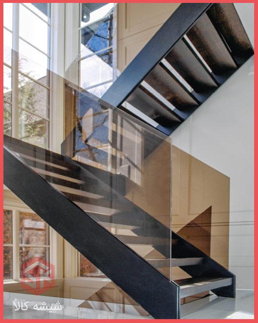شیشه-برنز-سکوریت-نرده-پله